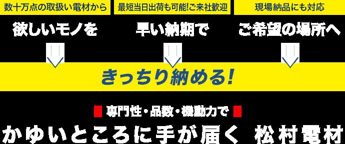 かゆいところに手が届く松村電材
